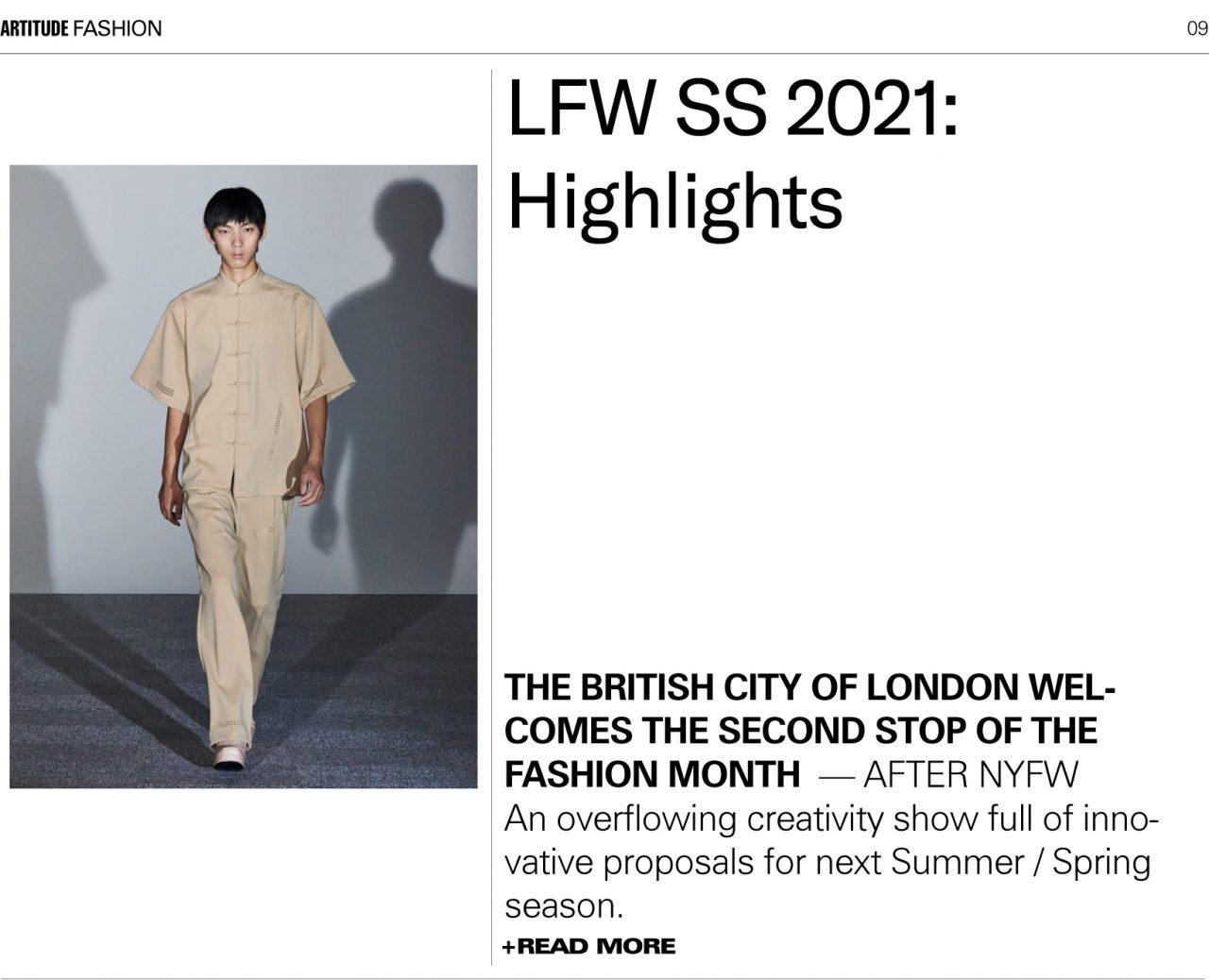 LONDON FASHION WEEK 2021 S/S